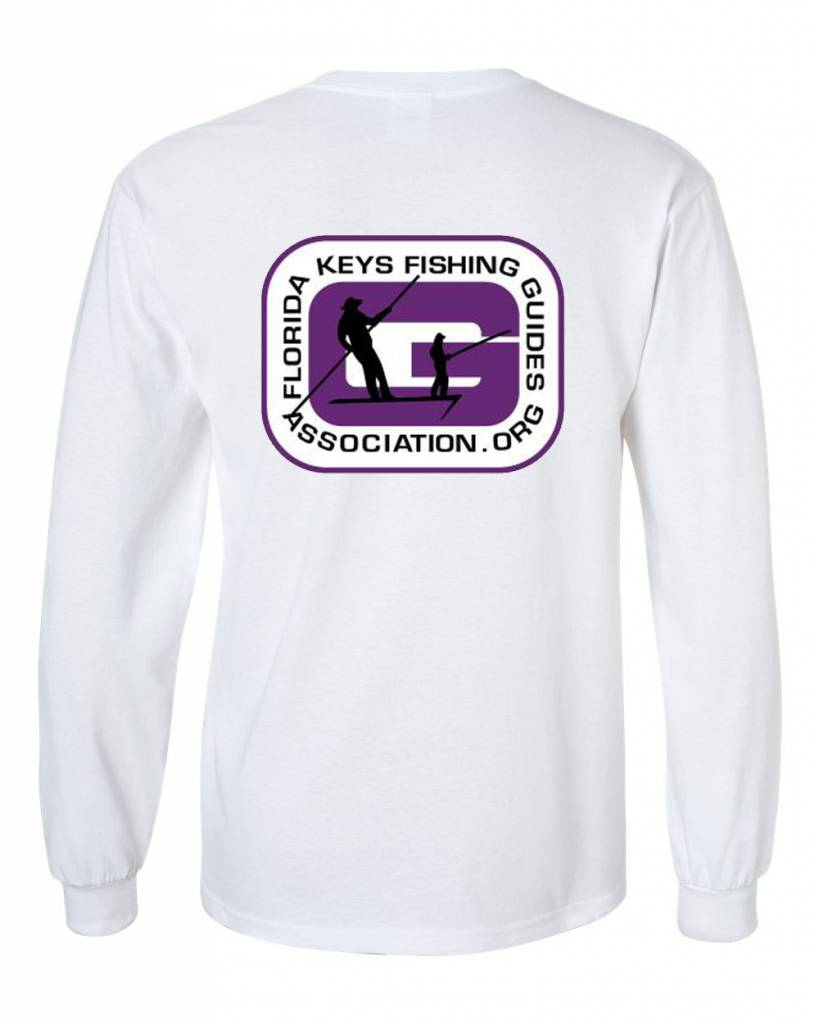 FL Keys Fishing Guides Assoc. L/S Tee Purple