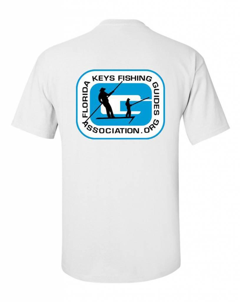 FL Keys Fishing Guides Assoc. S/S Tee Blue