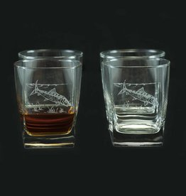 Square Highball Glass 4 piece