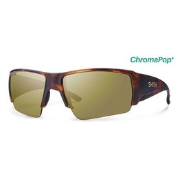 Smith Captains Choice,  Matte Havana Frame,  Polarized Bronze Mirror Chrom Lens