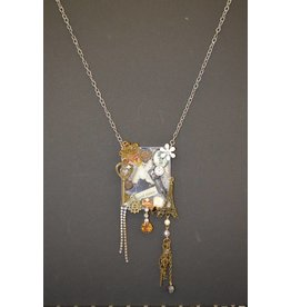 Collage Necklace-Life is Timeless