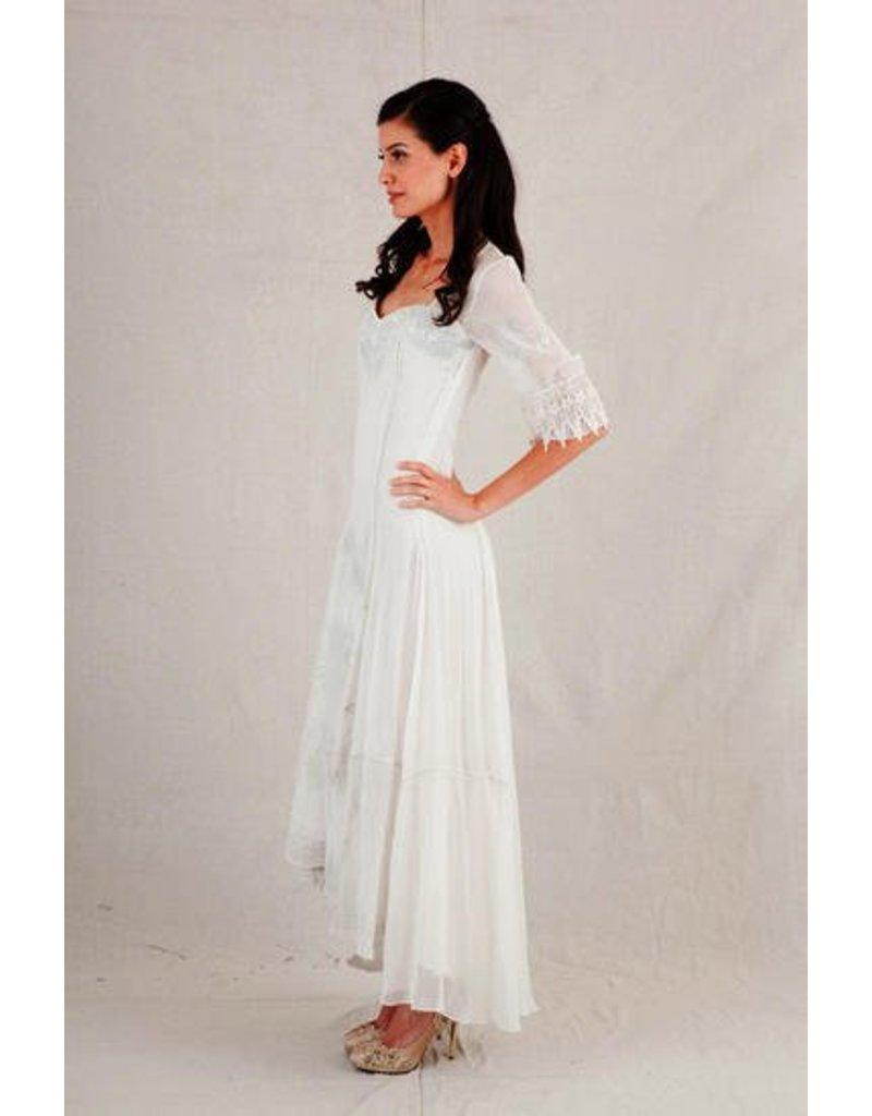 Embrod Hi-Lo Long Half Slv Dress