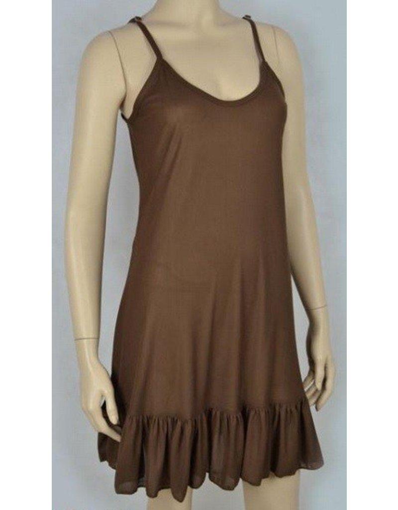 Slip Dress Ruffled Bottom