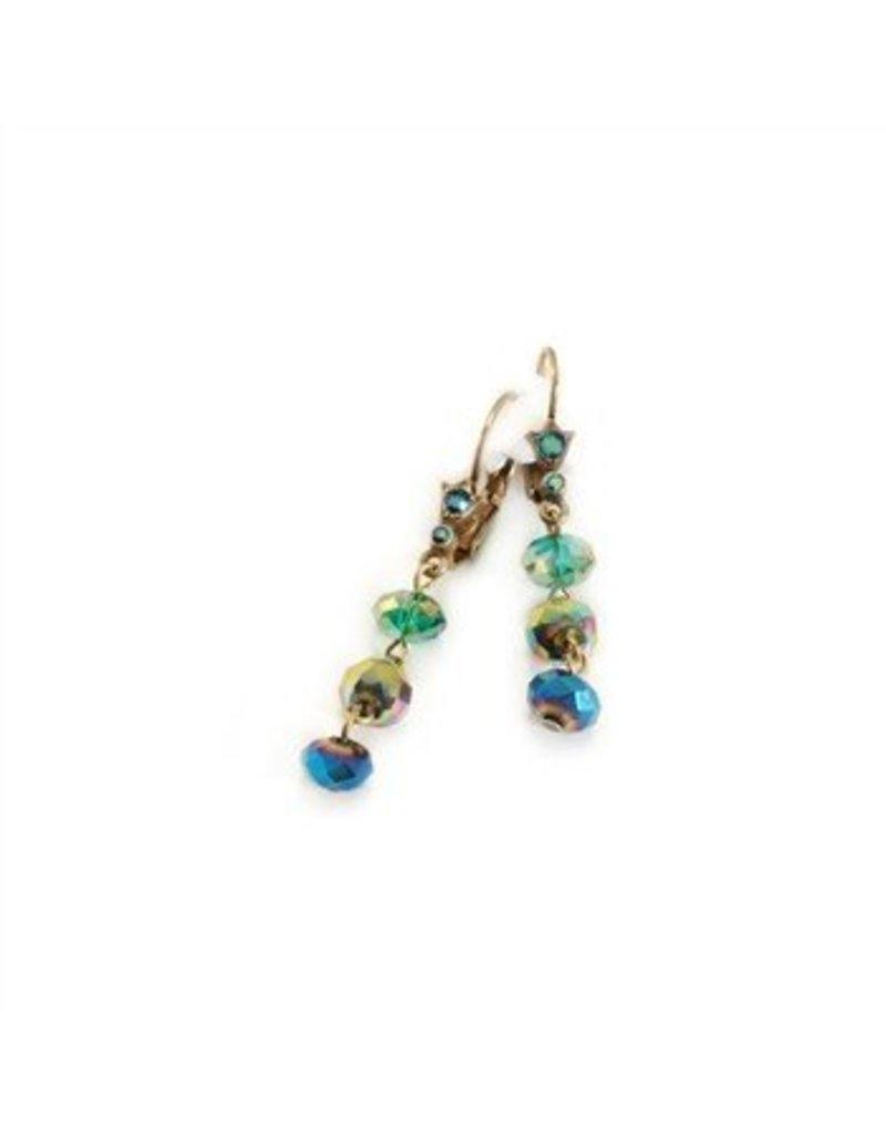 Sweet Romance Crystal Drop Bead Earrings