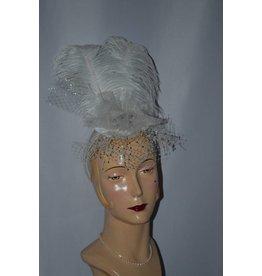 Bridal Fascinator w/Rhinestone Brooch