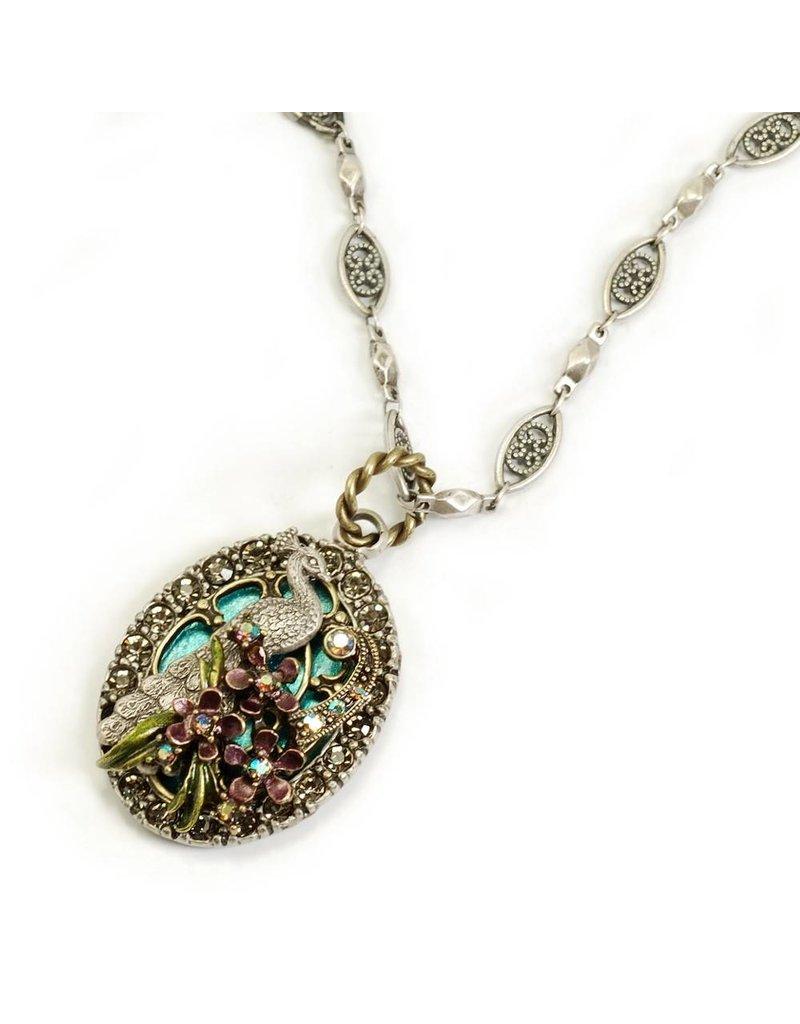 Sweet Romance Peacock Flourish Necklace
