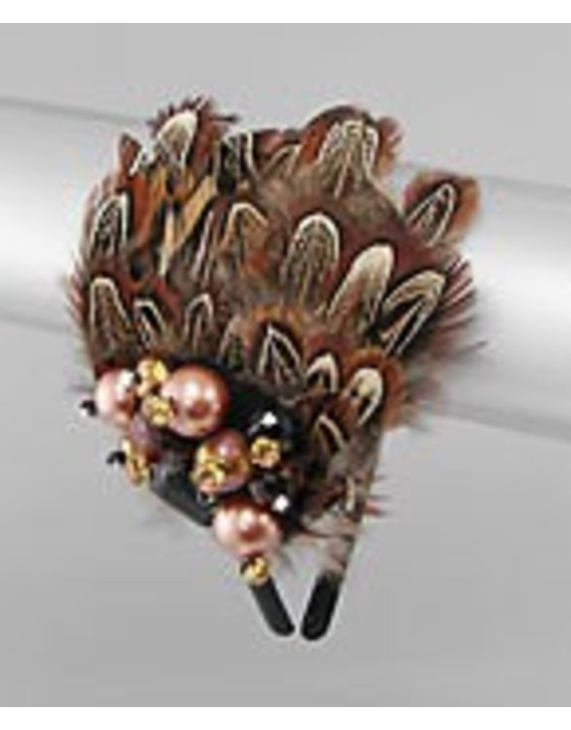 Golden Stella Feathery Fascinator