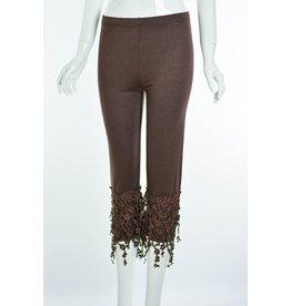 Floral Lace Trim Leggings