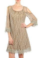 Lace Dress Open Shoulders