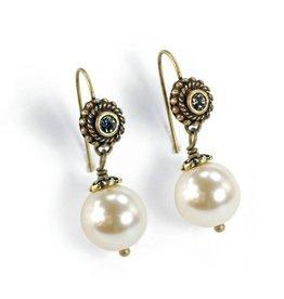 Sweet Romance Laguna Beach Pearl Earrings Oyster
