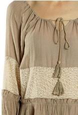 A'reve SSlv Cotton Blend Top w/Lace Sheer Bodice