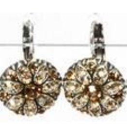 Mariana Flower Earring Jade/Brown Stones