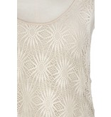 Lace Over Tank Twisted Back