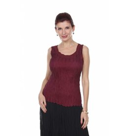 Lindi Textured Solid Tank Top