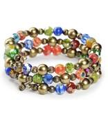 Sweet Romance Glass Candy Bead Wrap Bracelet