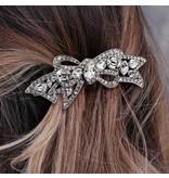 Sweet Romance Crystal Bow Hair Barrette