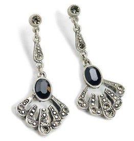 Sweet Romance Jet Gatsby Earrings