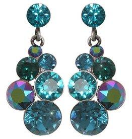 Konplott Petit Glamour Blue/Green Stud Earrings