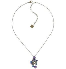 Konplott Blue/Lila Pendant Waterfall Necklace