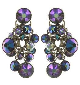 Konplott Blue/Lila Waterfall Stud Earrings