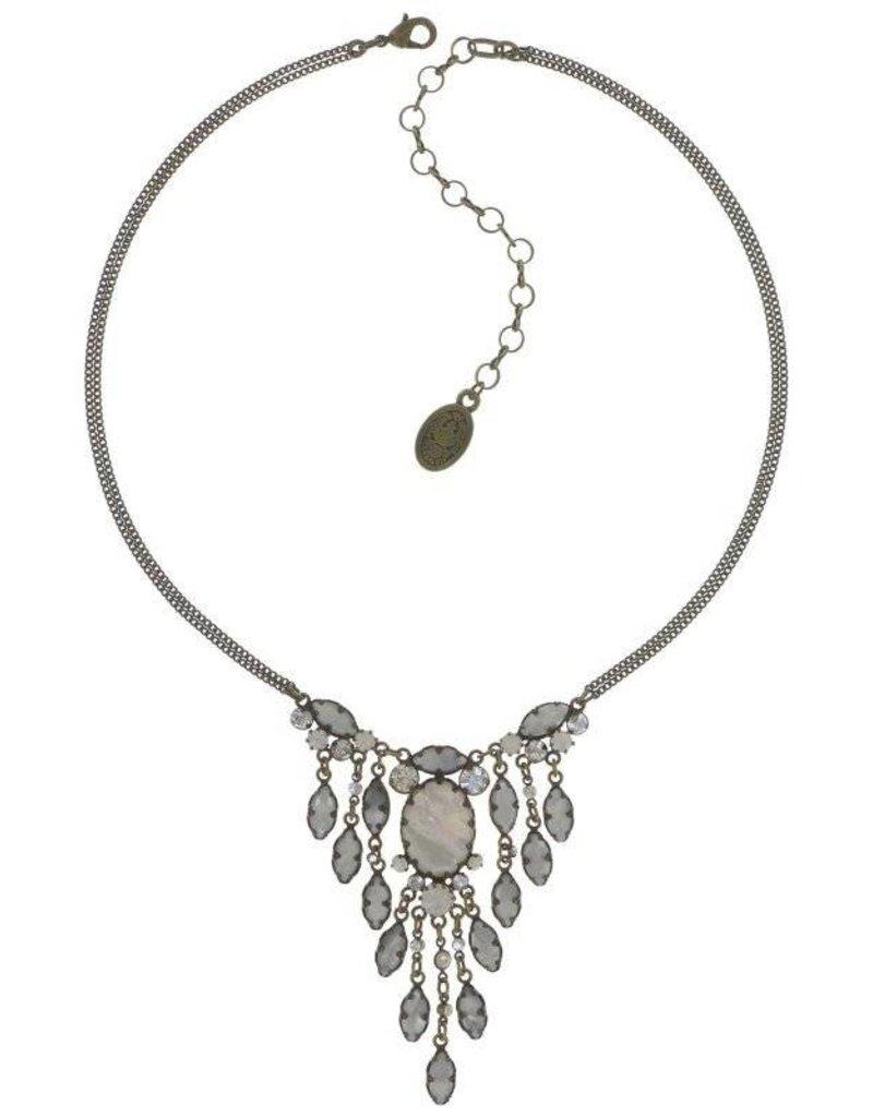 Konplott Dangerous Liaisons White Antique Brass Necklace