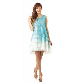 Lindi Ombre Layered Lace Dress