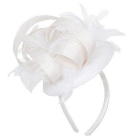 Something Special LA Large Sinamay Disk Fascinator- White