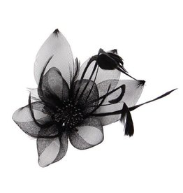 Something Special LA Feathered Mesh Flower w/ Leaf Fascinator