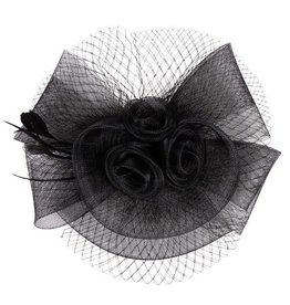 Something Special LA Mesh Fascinator w/ Floral Center