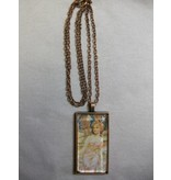 Sharon B's Originals Mucha Ant Copper Clond Hair Lady Pendant