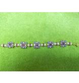 Sharon B's Originals Lav, Fushcia, Pearl Slide Bracelet