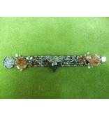 Sharon B's Originals Copper Slvr Leaves Bracelet