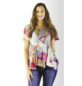Sacred Threads Patchwork Kicky Waist Top