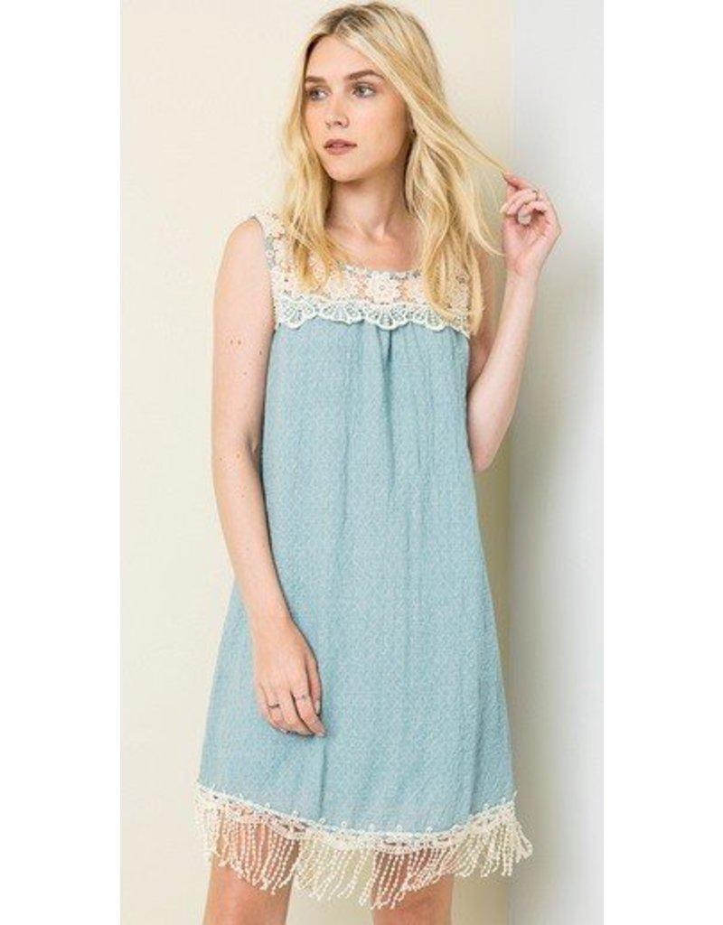 Hayden Los Angeles Bib Lace Tank Dress