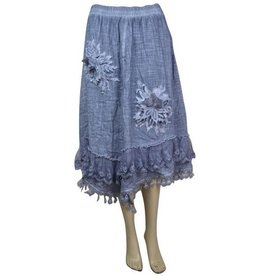 Pretty Angel Gause Lace Accent Skirt