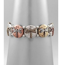Golden Stella Dragonfly Bracelet-TriTone