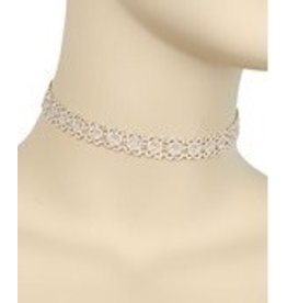 Golden Stella Thread Circle Choker-Beige