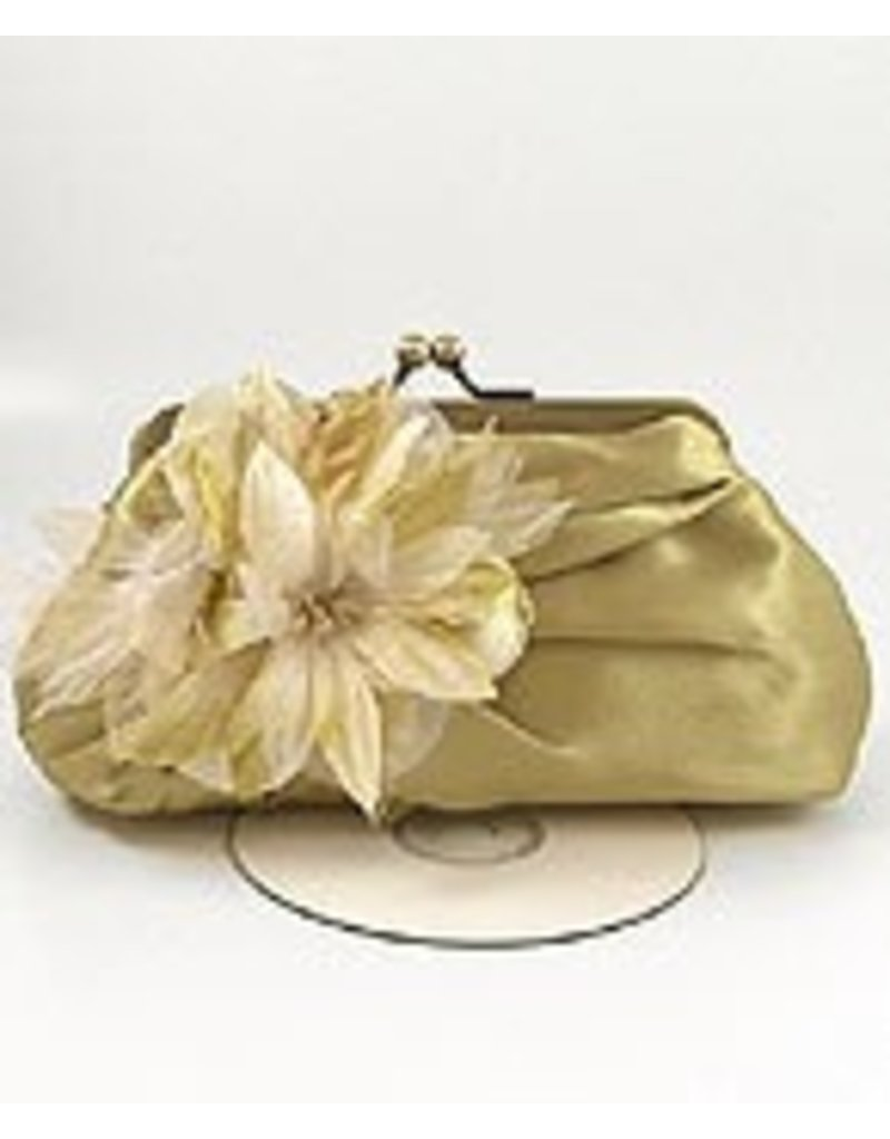 Golden Stella Handbag With Wild Flowers