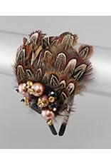 Golden Stella Feathery Fascinator
