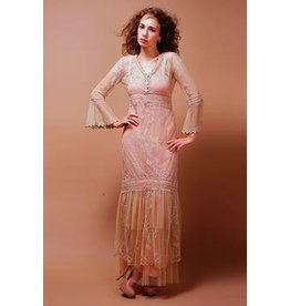 Nataya Downton Lace Dress Pink Champagne