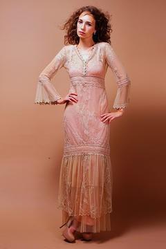 Nataya Downton Lace Dress Pink Champagne