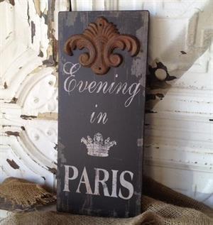 Peacock Park Design Evening in Paris Sign