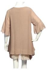 SassyBling Short Sleeve Tunic Lace Layer