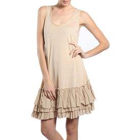 A'reve Tank Slip Dress Ruffle Bttm