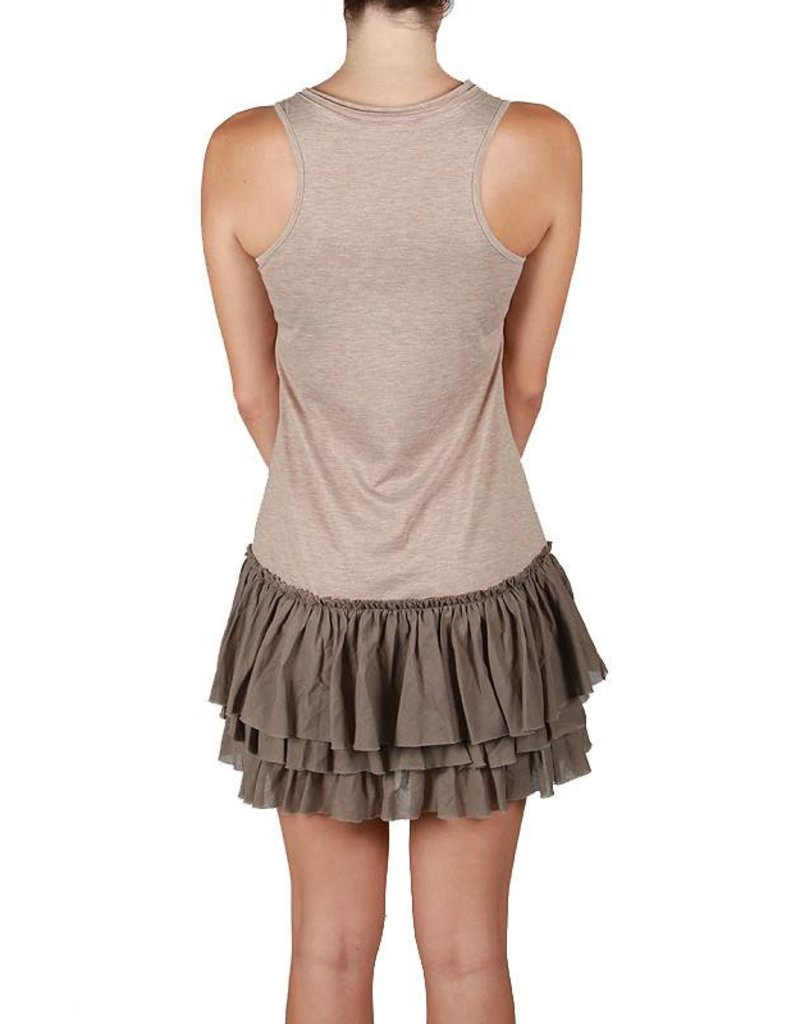 A'reve Tank Slip Dress Ruffle Bttm