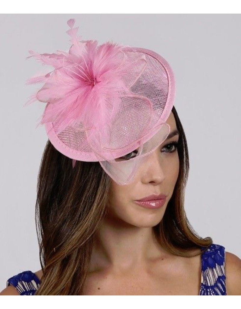 Something Special LA Large Sinamay Disk Fascinator-Mauve