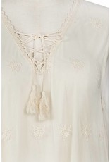 A'reve 3/4 Sheer Slv Embrod/Lace Tunic