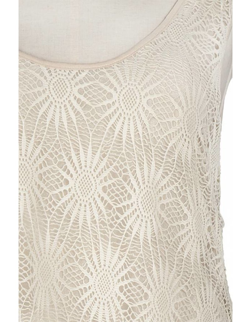 A'reve Lace Over Tank Twisted Back