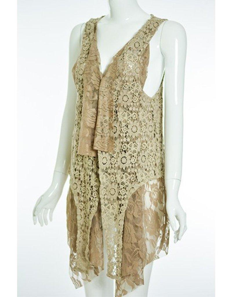 Lady Noiz Victorian Style Dbl Layer Vest