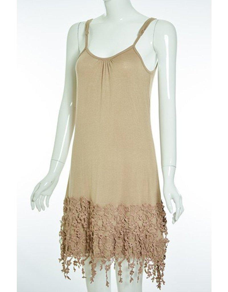 Lady Noiz Slip Dress Floral Lace Trim